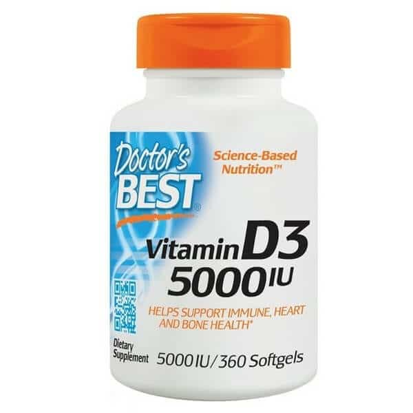 Doctor's Best 180 sfg Vitamin D3 5000 IU For Bone and Joint Health