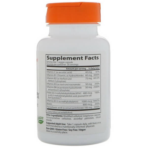 Doctor's Best 30 vgc Fully Active B Complex For Brain Fog & Fatigue
