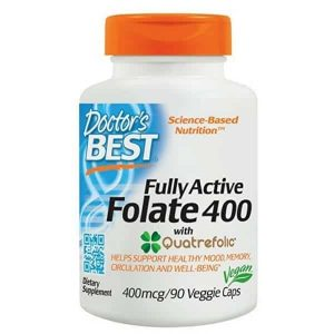 Doctor's Best 90 vgc Fully Active Folate For Mood and Memory Health
