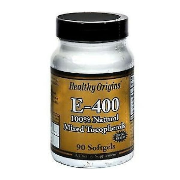 Healthy Origin 90 cap Vitamin E Complex 400IU Antioxidant & Hair & Skin Protection
