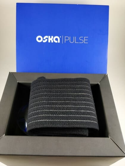 Oska PEMF Pulse open box with product elastic band - For Chronic Pain Management - Lupus Health Shop