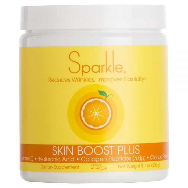sparkle skin boost plus collagen peptides for faster results against lupus anti-aging and joint pain - orange flavor - Lupus Health Shop