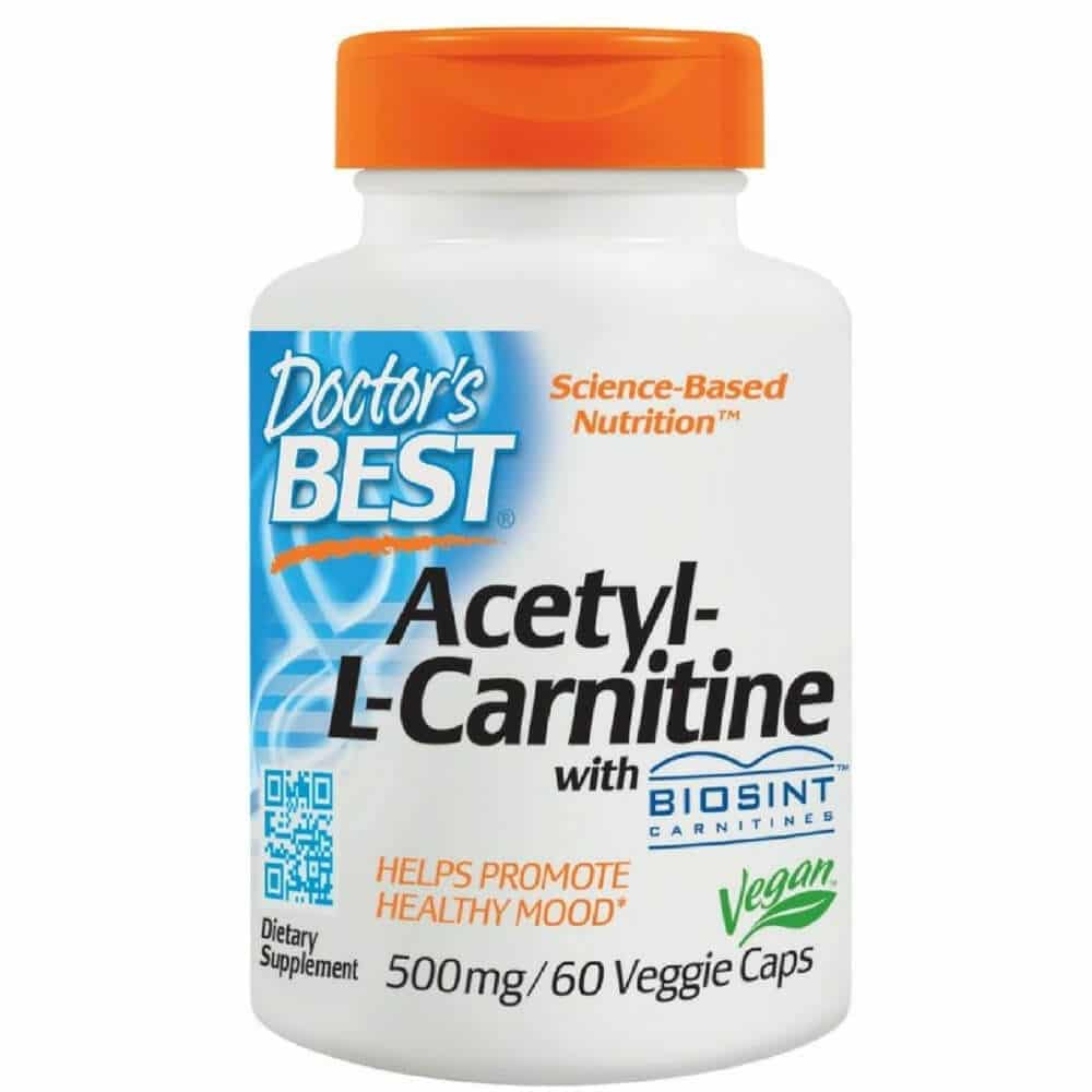 Doctor's Best 60 cap Acetyl L-Carnitine w Sigma Tau Boosts Cellular Energy and Supports Heart and Brain - Lupus Health Shop - front