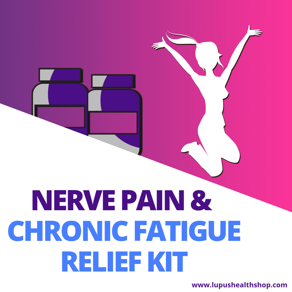 Fibromyalgia support kit has two of the best products at an affordable price. This kit helps decrease nerve pain, brain fog, and supply your cells with energy! Shop now for relief!