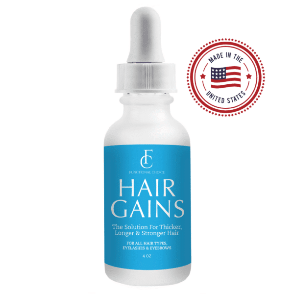 Front Image - Hair Gains - Lupus Hair Oil For Lupus Hair Loss - Functional Choice - Lupus Health Shop