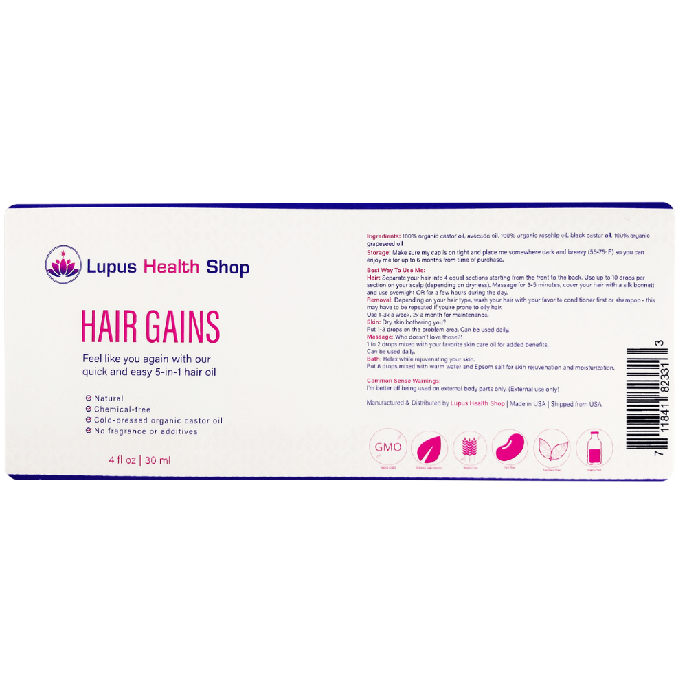 Lupus Hair Gains - Lupus Hair Loss - Lupus Life Hacks - Lupus Health Shop - Label