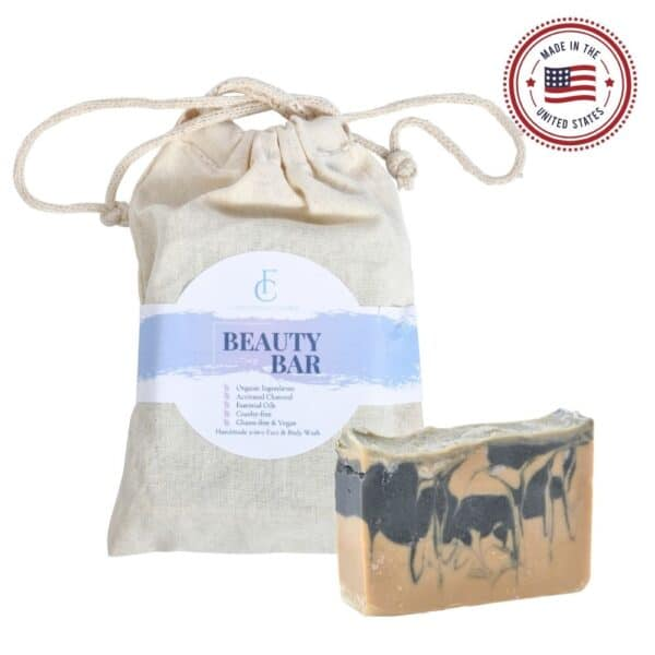 Beauty Bar Activated Charcoal Soap Orange Essential Oil with Bag - Lupus Health Shop